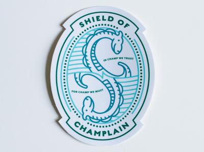 Champ Shield of Champlain Sticker