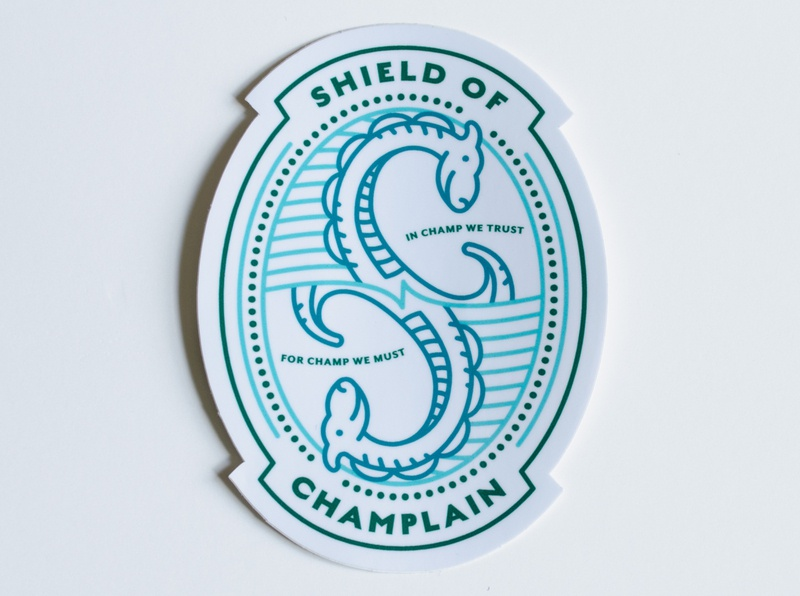 Champ Shield of Champlain Sticker
