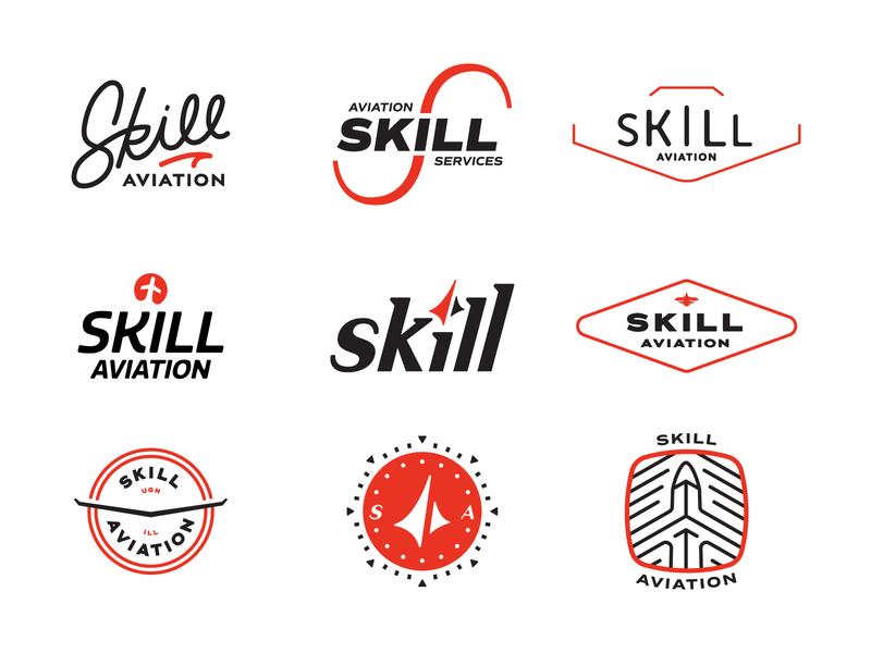 Aviation Logo Concepts branding concept badge design brand badge airplane logo wip