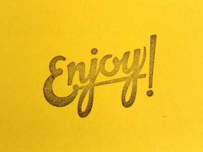 Enjoy Lettering stamp stationary cards script lettering