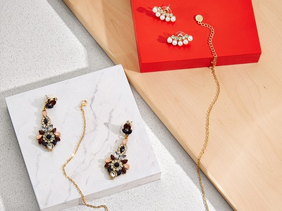 Little Extras styling product laydown creative joe fresh gift guide textures jewellery