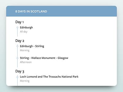 Daily UI #079 - Itinerary dailyui itinerary itinerary user interface design ui design daily ui dailyui