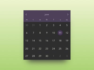 Daily UI #080 - Date Picker widget date picker calendar user interface design ui design daily ui dailyui