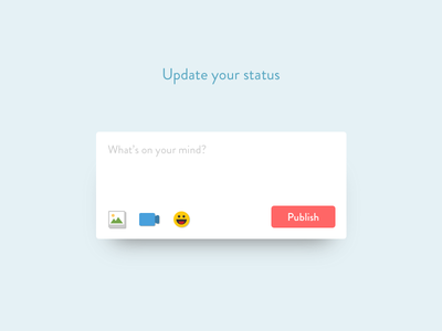 Daily UI #081 - Status Update input status dailyui status update user interface design ui design daily ui dailyui