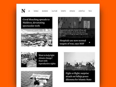 Daily UI #094 - News grid news design news web design user interface design ui design daily ui dailyui
