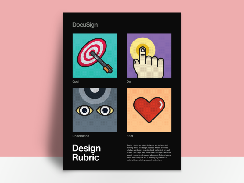 Design Rubric methods abstract rubric illustration poster
