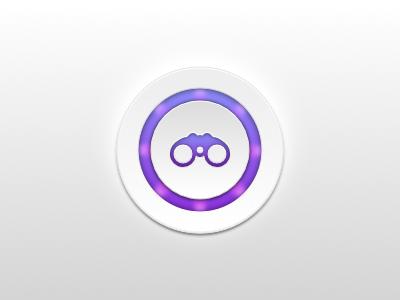 Search LED-Style Button / UI ux ui app gradient design purple led button icon