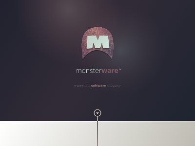 Monsterware Mock Up  svg gradient ux ui prototype wireframe web design