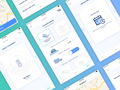 Yardly Mobile App Screens ui mobile winter
