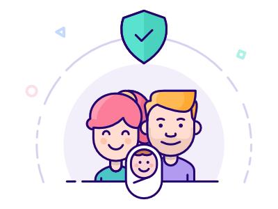 Term Life Insurance illustration insurance people
