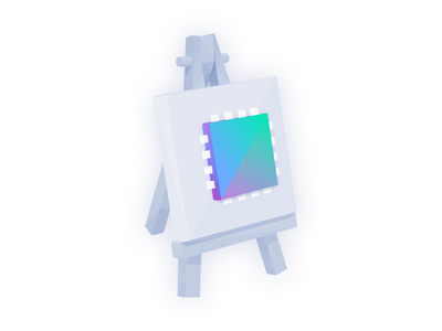 Art + Technology easle low poly lowpoly gradient