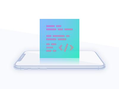 Mobile Development coding iphone x gradient