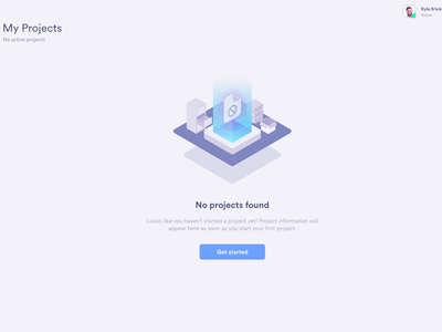 Project not found isometric ui gradient