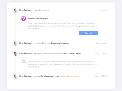 Manager Activity Board project management ux dashboard ui