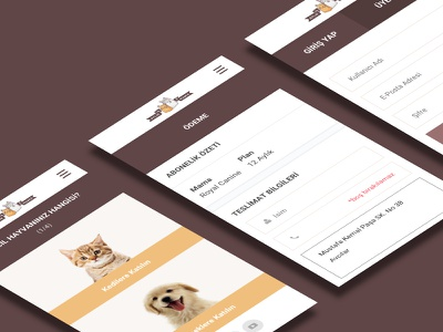 Mobile Screens dog cat pet app pet checkout interface design mobile ux ui