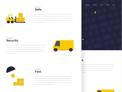 Crate Full Page building truck forklifts gradient one page landing page landing illustration