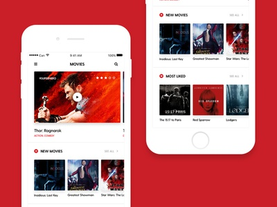 Movie App Concept app list ios ui mobile movie