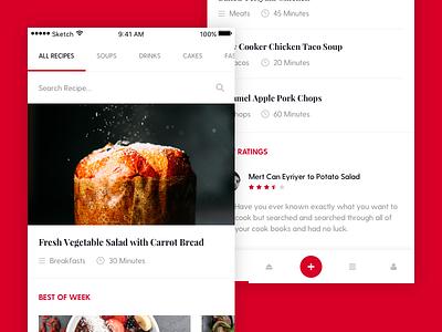 Recipe App minimal image drink food app mobile ux ui recipe