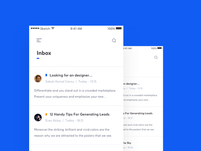 Simple Mail Client App client mail ux ui ios app