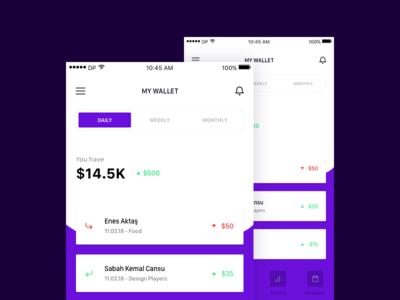 Wallet App payment ios mobile wallet app ux ui