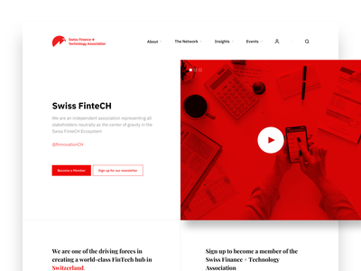 Swiss Fintech Website landing page design web ux ui