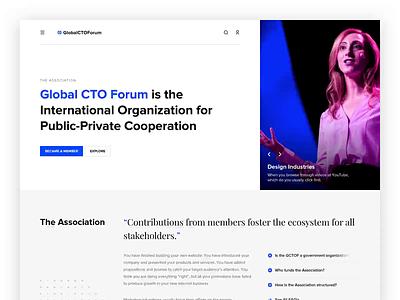 Global CTO Forum Landing Page Animation website one page landing landing page web design animation ux ui
