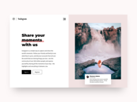 Daily UI #003 - Landing page Instagram