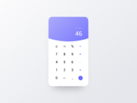 Daily UI#004 - Calculator