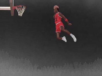 The Slam michael jordan 23 slam dunk bulls illustration vector