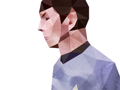 Spock star trek spock delaunay dmesh photoshop texture watercolor