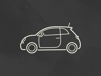 Fiat 500 fiat car outline simple