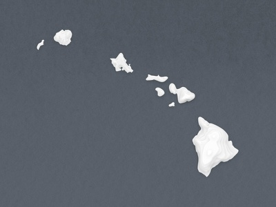 Hawaii hawaii topographic islands photoshop