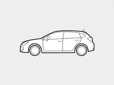 Subaru Impreza car impreza illustration