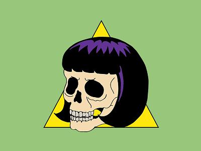 Skull Girl skulls illustration