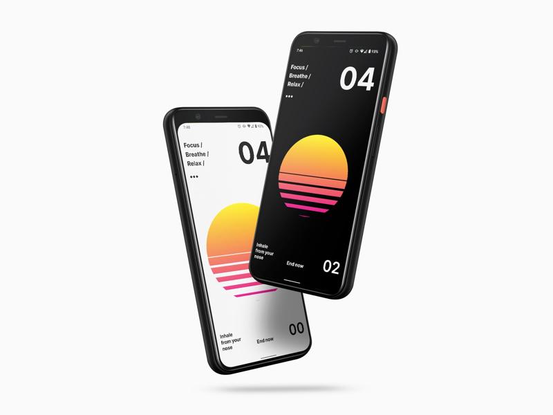 Calmaria Android App app design ui android