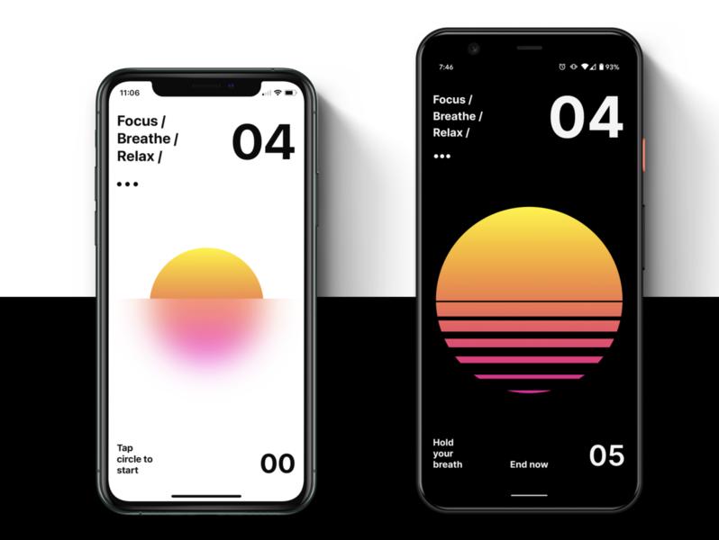 Calmaria for Android & iPhone ui ios app design ios app android app app ui