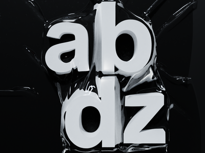 abdz. wrapped typography blender3d 3d