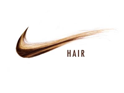 NIKE HAIR (wip) punny logo photoshop