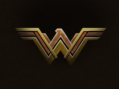 Wonder Woman Logo in Photoshop photoshop
