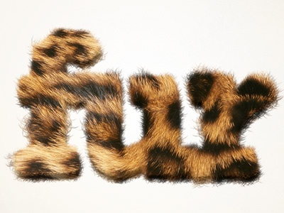 Furry Text in Pixelmator typography