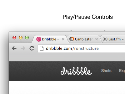 Tab Player google chrome tabs music player play pause browser idea audio controls