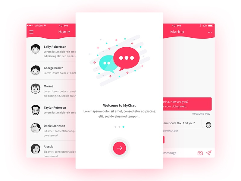 Chat Ui ui sketch mobile-chat iphone-app ios-ui chat-app chat