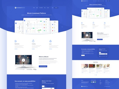 "Landing page ""Bitcoin Investment Platform"" (WIP) website web ux ui page landing investment indianic design clean bitcoin"