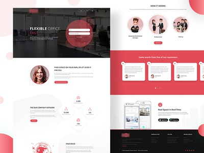 Landing page (WIP) find clean design indianic company landing page ui ux web website