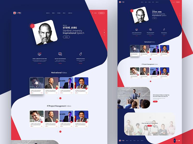 Landing page (WIP) blue website web ux ui page landing indianic design video motivational