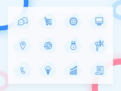 Freebie: Simple Line Icons vector svg sketch ressources minimal icons freebies freebbble free blue
