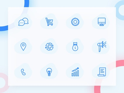 Freebie: Simple Line Icons vector svg sketch ressources minimal icons freebies freebbble free blue