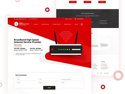Landing Page (WIP) website web ux user ui connectivity landing interface homepage speed internet broadband