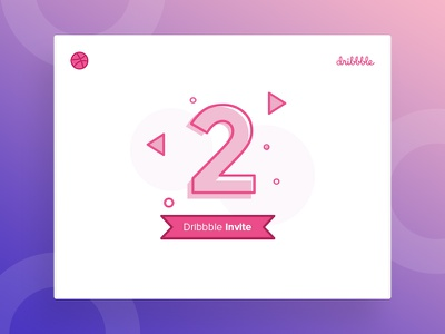 2 Dribbble Invite Giveaway tushit shot two invites invite invitation giveaway dribbble draft 2