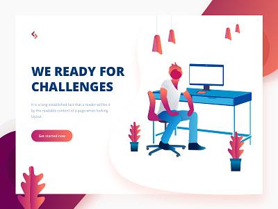 We Ready For Challenges tushit hire developemnt design challenges ux ui illustration